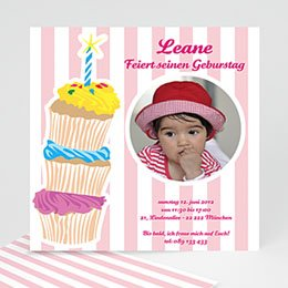 Einlegekarte Kindergeburtstag Leane