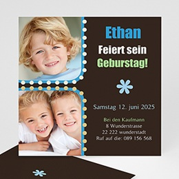 Einlegekarte Kindergeburtstag Ethan