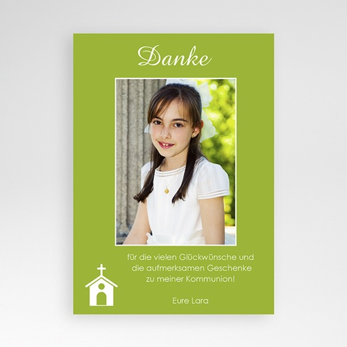 Dankeskarten Kommunion Mädchen - Cloe 1400