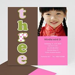 Einlegekarte Kindergeburtstag Mitsouki