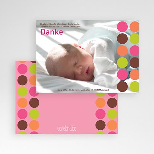 Dankeskarten Geburt Mädchen - Kreise 14137 preview