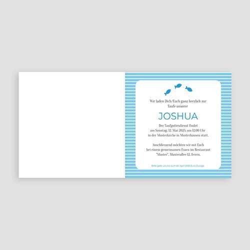 Einladungskarten Taufe Jungen  - Louis 14153 test