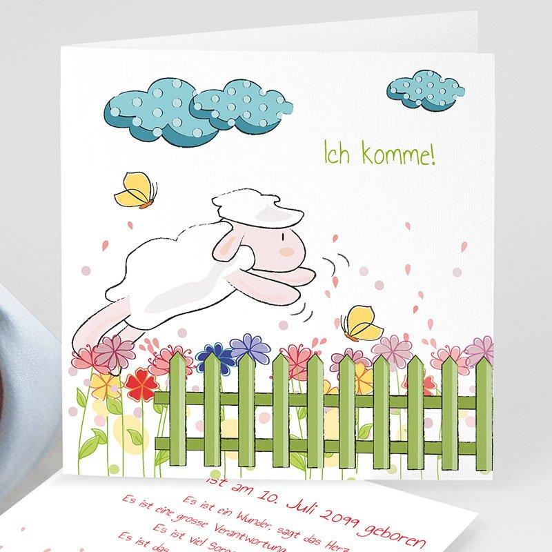 Geburtskarten für Mädchen Freudensprung