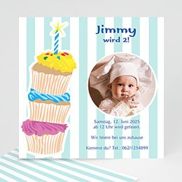 Einlegekarte Kindergeburtstag Kuchenbäckerei