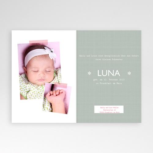 Geburtskarten für Mädchen - Streifenbody 14220 preview
