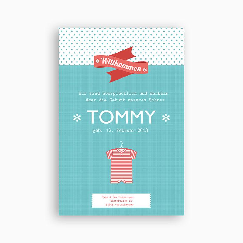 Geburtskarten für Jungen Tommy