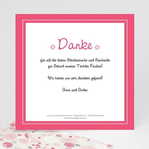 Dankeskarten Geburt Mädchen - Joy 14237
