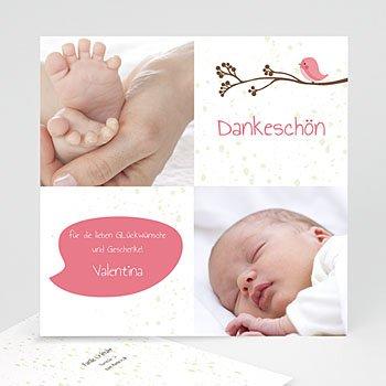Dankeskarten Geburt Mädchen Piep Piep