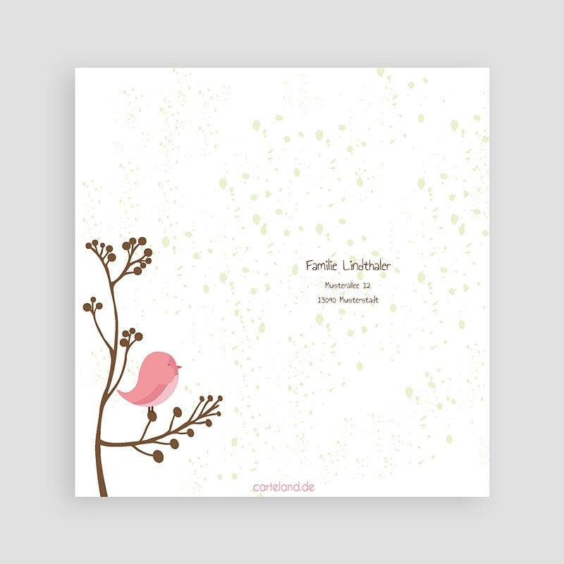 Dankeskarten Geburt für Mädchen Piep Piep pas cher