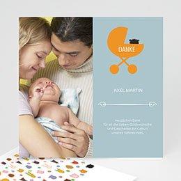 Danksagungskarten Geburt Kinderbett