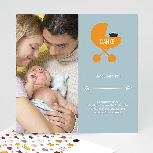 Dankeskarten Geburt Mädchen - Kinderbett 14255 test