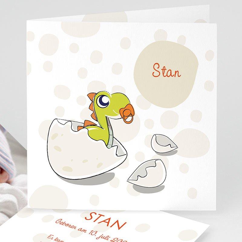 Geburtskarten für Jungen Baby Dino