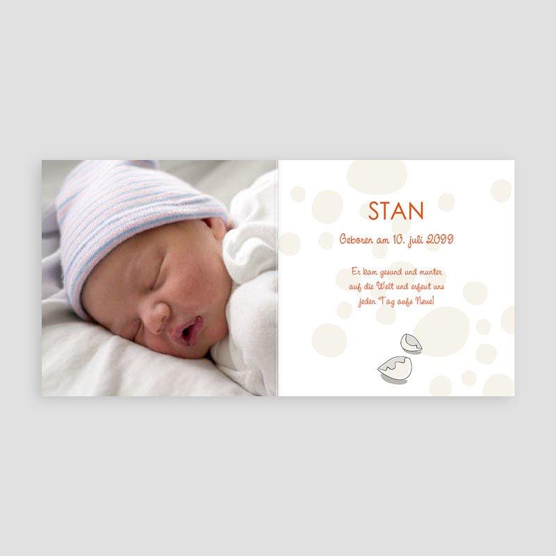 Geburtskarten für Jungen Baby Dino pas cher