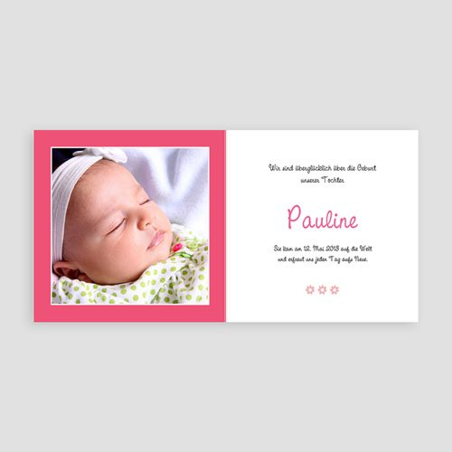Geburtskarten für Mädchen - Rebeca 14266 thumb