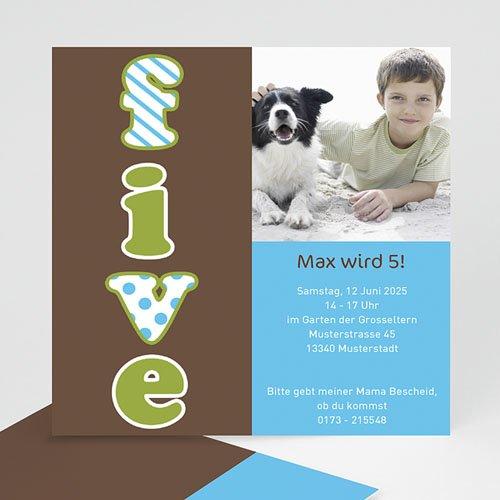 Geburtstagseinladungen Jungen - Five 1440 test