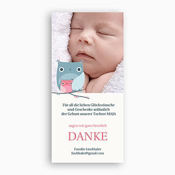 Dankeskarten Geburt Mädchen Jana