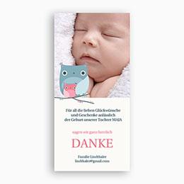 Dankeskarten Geburt Mädchen - Babykarte - 1