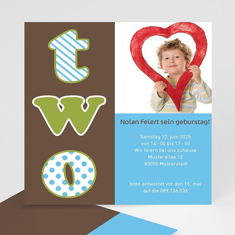 Einladungskarten Geburtstag Jungen Two