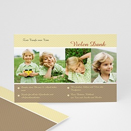 Danksagungskarten Taufe Portrait