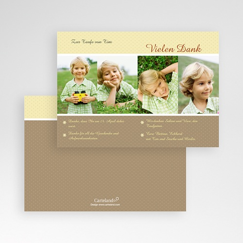 Dankeskarten Taufe Jungen - Portrait 14455 preview