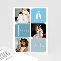 Dankeskarten Kommunion Mädchen - Kommunionskarte - 1
