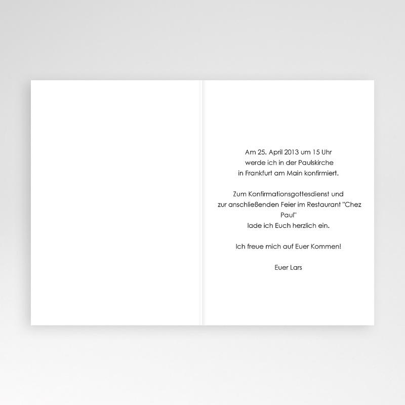 Einladungskarten Konfirmation Farbvarianten pas cher