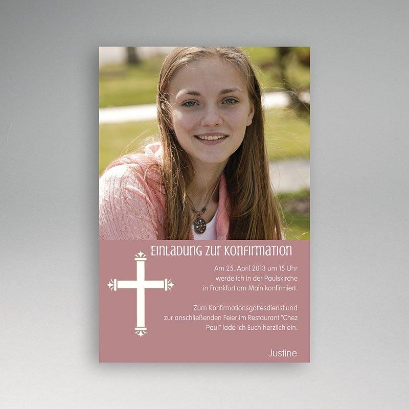 Einladungskarten Konfirmation   Kreuzzeichen   Mit Farbvarianten 14612 Thumb