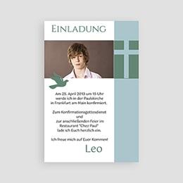 Einladungskarten Konfirmation - Kommunionskarte - 1