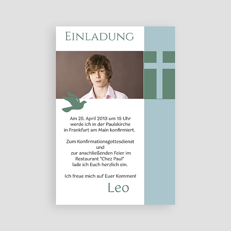 einladungskarten konfirmation text – cloudhash, Einladung