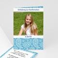 Kommunionskarte blau - 1