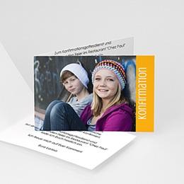 Karten Confirmation Schlicht - mit Farbvarianten