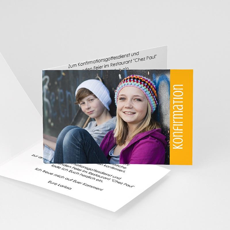 Einladungskarten Konfirmation - Schlicht - mit Farbvarianten 14642 thumb