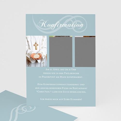 """Einladungskarten Konfirmation - Kommunionskarte """"Elias"""" 14648"""