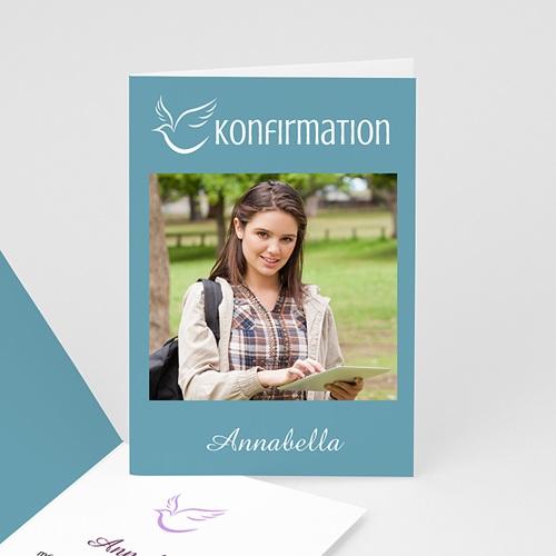 Einladungskarten Konfirmation - Taube - mit Farbvarianten 14654 test