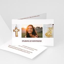 Einladungskarten Konfirmation - Kommunionskarten - 1