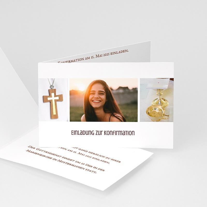 Einladungskarten Konfirmation Fotoreihe - mit Farbvarianten