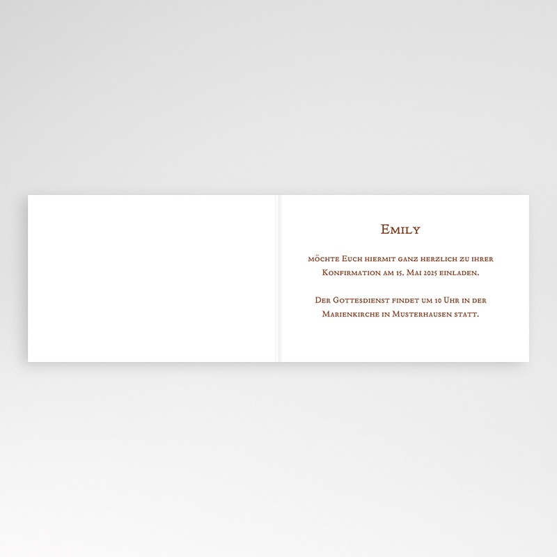 Einladungskarten Konfirmation Fotoreihe - mit Farbvarianten pas cher