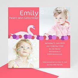 Einlegekarte Kindergeburtstag Pink