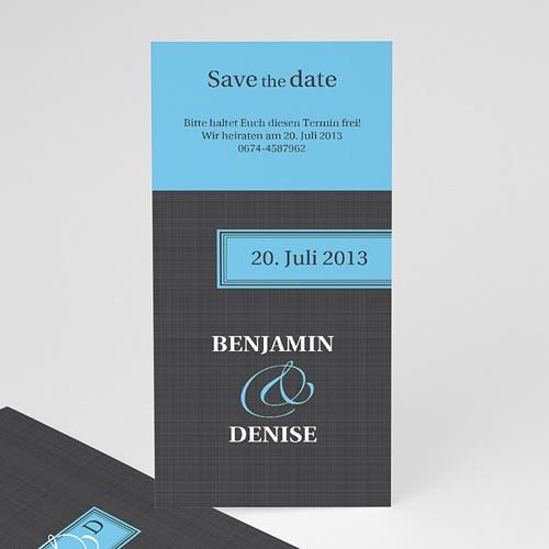 Archivieren - Grau Blau 14714