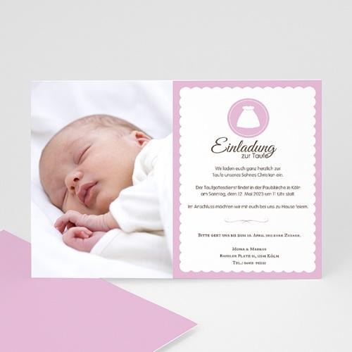 Einladungskarten Taufe Mädchen - Portrait 14792