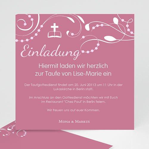 Einladungskarten Taufe Mädchen - Stilvoll 14798