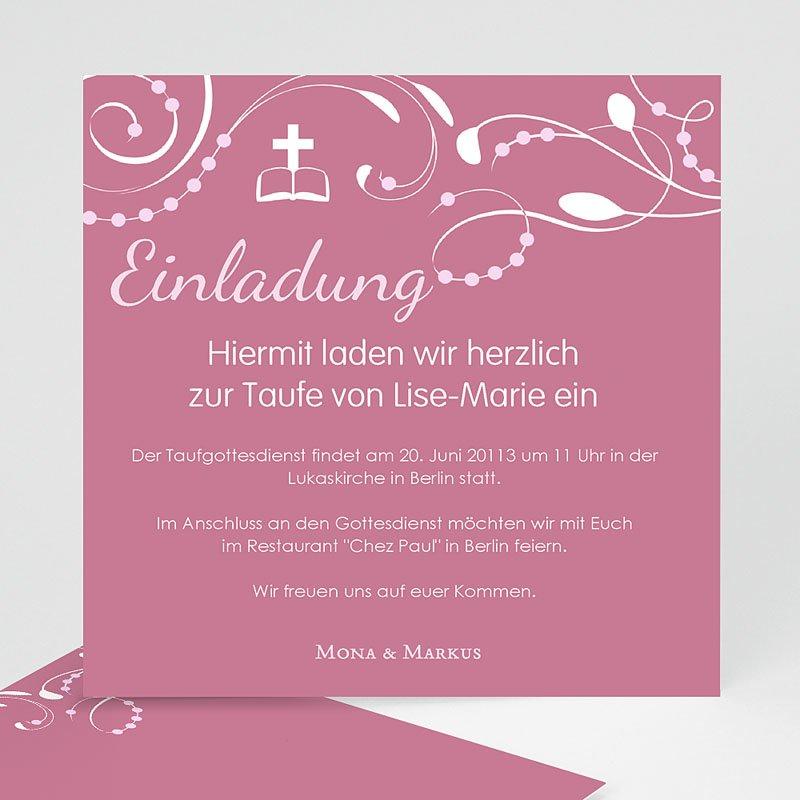 Einladungskarten Taufe für Mädchen Stilvoll
