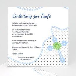 Einladungskarten Taufe Jungen  Symbolik