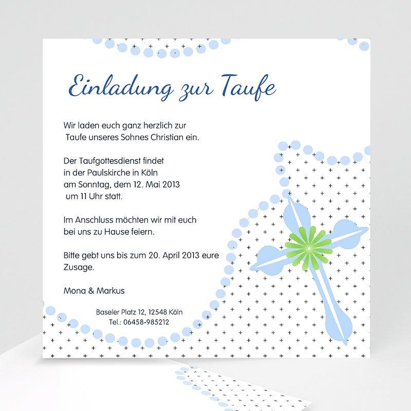 Einladungskarten Taufe für Jungen Symbolik