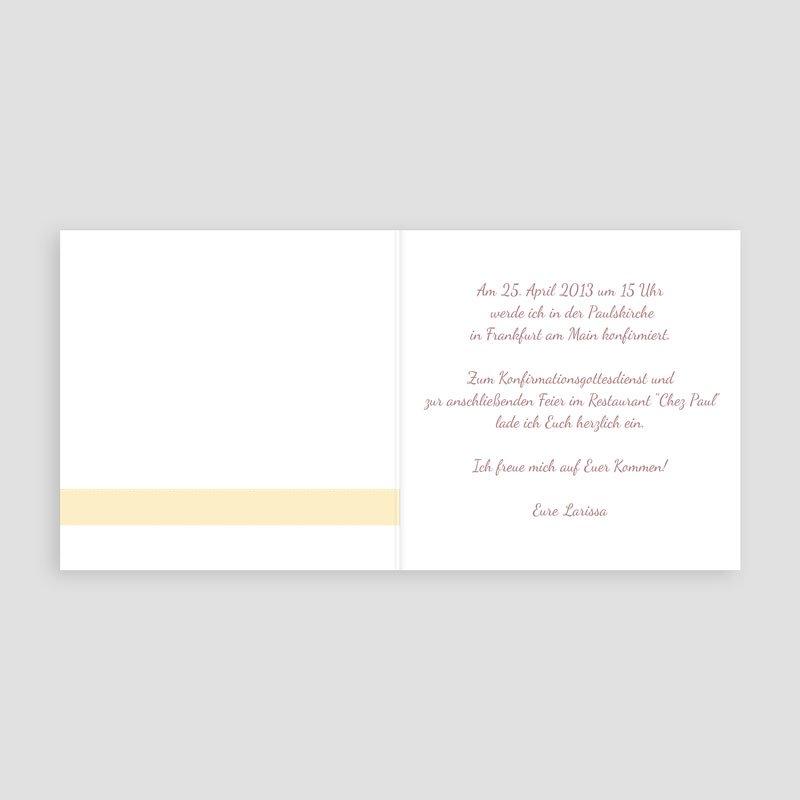 Einladungskarten Konfirmation Florales Ornament pas cher