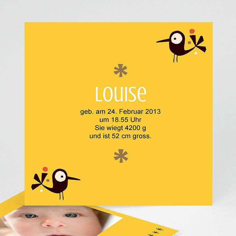 Geburtskarten für Mädchen Piep Piep