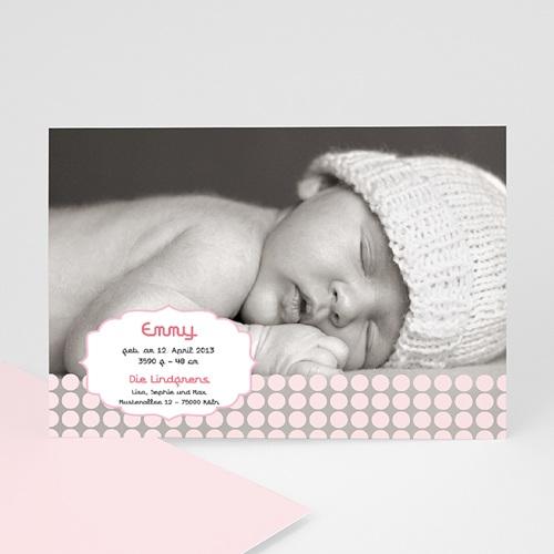 Geburtskarten für Mädchen Samtweich