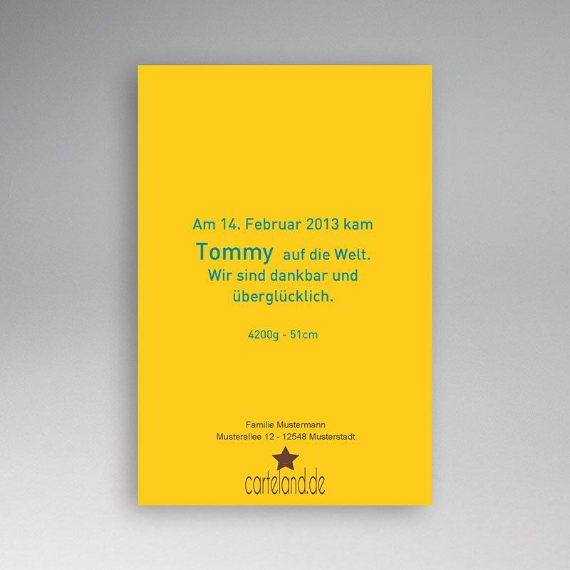 Geburtskarten für Jungen Storch Junge pas cher