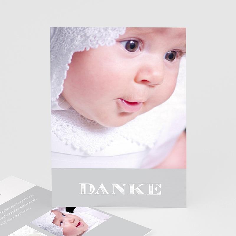 Dankeskarten Taufe Jungen Typographie