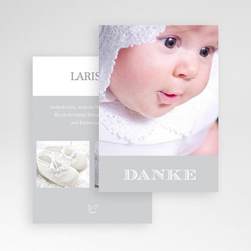 Dankeskarten Taufe Jungen - Typographie 14945 test